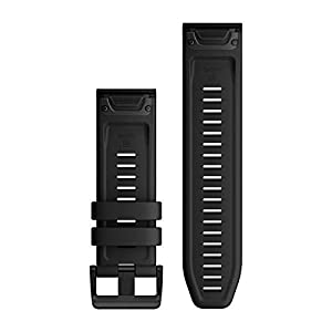 Garmin Quickfit 26 Watch Band, Black Silicone
