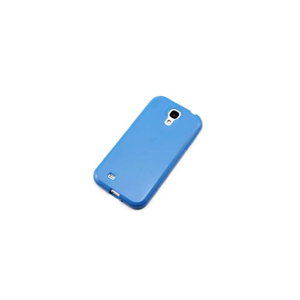 ChineOn Soft Glossy TPU Silicone Gel Cover Case Skin for Galaxy S4 S IV i9500(Blue)