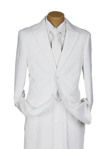 Michael Kors Authentic White Communion, Confirmation And Special Events Boy'S 2 Button Suit front-358849
