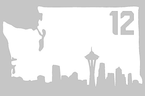 White-Vinyl-Washington-State-with-Skyline-Bottom-and-12-inside-Window-and-Wall-Decal-Seattle-Football-12th-Man