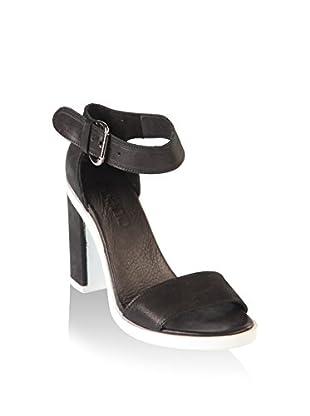 Bueno Sandalias de tacón (Negro)