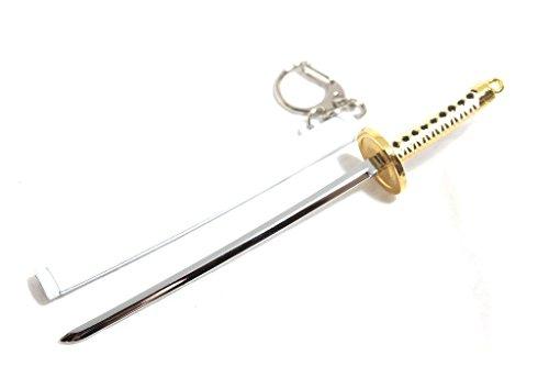 ゾロ 刀 キーホルダー さや 付き 刀剣 コスプレ インテリア セット 日本刀 アクセサリー (a 和道一文字 白さや)