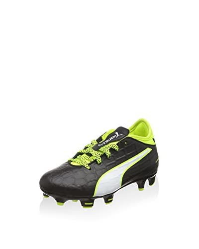 Puma Zapatillas de fútbol Evotouch 3 Fg Jr Negro / Blanco