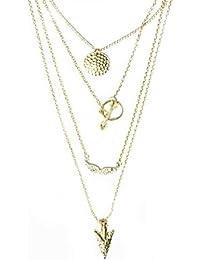 Hot Elegant Fashion Arrow Design Necklace Pendant Charm Gold Choker Chain Necklace By TNF