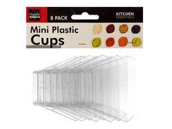 Clear Mini Plastic Condiment Cups Set ( Case of 36 )