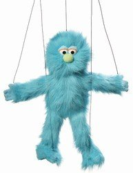 Blue Silly Monster Marionette from Silly Puppets