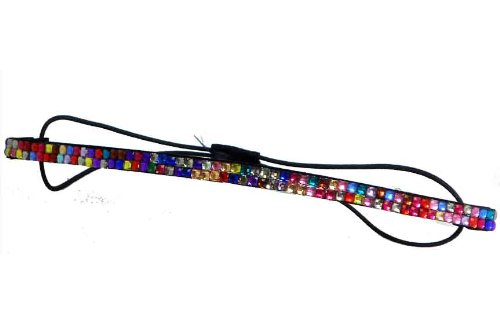 New Rhinestone 2 Strands Fashion Headband (Fuchsia)