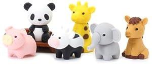 ... Japanese Puzzle Take Apart Erasers Zoo Animals Set of 7: Toys & Games Zoo Animals Toys