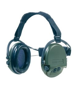 MSA Sordin Supreme Pro X Neckband with Green Cups and AUX Input.