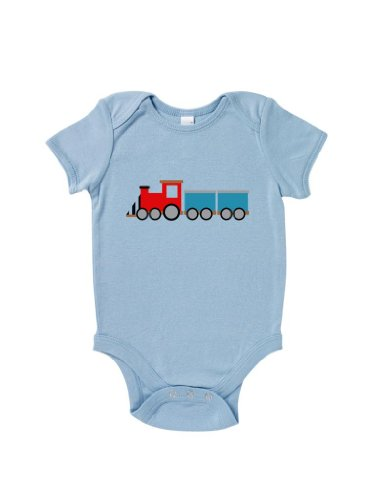 Blue Ivory Toy Train Baby Grow Novelty Playtime Funny Joke Inspired front-860044