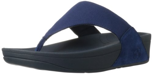 Fitflop Women'S Lulu Canvas Flip Flop,French Navy,10 M Us front-993042