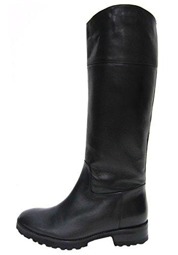 maxmara-womens-faesit-leather-lug-heel-boot-sz-41-black-80626mm