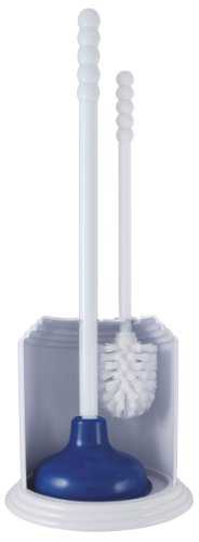 LDR 167 4766WT Tahoe Plunger and Brush Combo Caddy, White