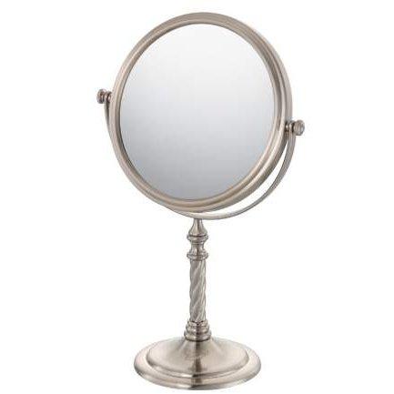 Mirror Image Swirl Stem Vanity Mirror - Brushed Nickel 81877