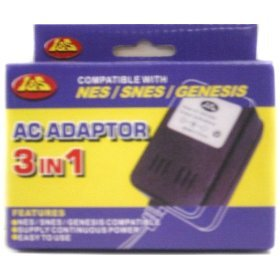 3 in 1 AC Adaptor - Nintendo, Super Nintendo, Genesis (Ac Adapter For Nintendo Nes compare prices)