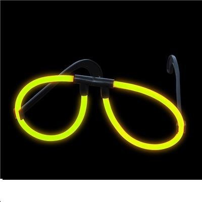 Yellow Light-Up Glow Stick Glasses (Package of 12) - 1