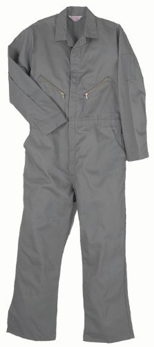 Walls Work Men's Long Sleeve Twill Coverall, Gray, 42/Regular