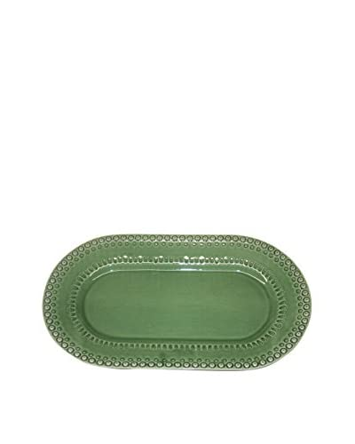 CE Cory Bordallo Oval Platter, Green