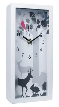 JustNile Decorative Rectangle Table Clock - 5 x 10 Magical Forest
