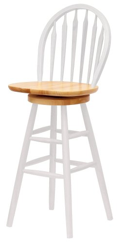 Cheap 18 Inch Stools ~ Windsor swivel barstool white natural quot cheap bar
