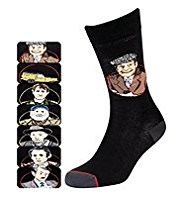 7 Pairs of Cotton Rich Only Fools and Horses Socks