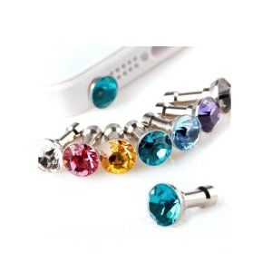 Miss Darcy 2Pcs Flash Diamond Style 3.5Mm Anti-Dust Plug Stopper For Iphone 3G 3Gs 4 4S Ipad 4 Samsung Galaxy Note 2 S3 S4 I9300 I9500(Color In Random)