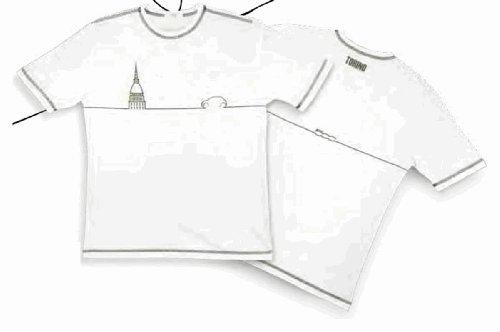 Original Fiat T-Shirt da uomo TORINO bianco in taglia XXL-XXL