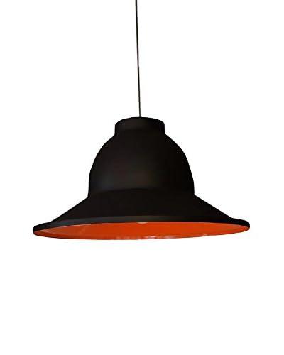 Homemania Lampada A Sospensione Pendant Nero/Arancione