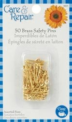 Dritz Safety Pins Assorted Sizes 50/Pkg 9601D; 6 Items/Order