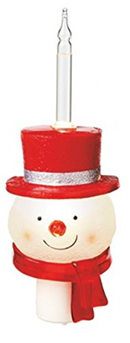 Snowman Acrylic Plug-In Shimmer Night Light - Size 8 in. Tall - 1