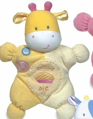 Kids Preferred Comfort Cuddly Rattle Toy-Yellow - 1