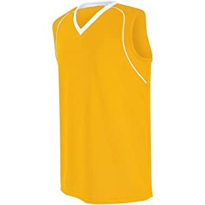 Buy Ladies Girls Athletic Sports Jersey Moisture Management, Rib-Knit V-Neck Sleeveless... by Augusta - Authentic Sports Shop