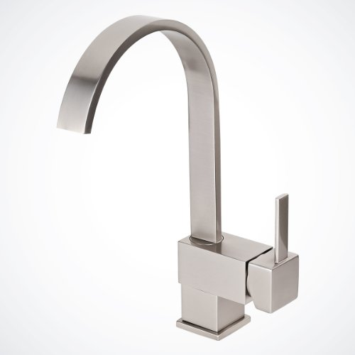 Brushed Nickel Kitchen Bathroom Vessel Sink Faucet, Single-handle