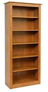 French Gardens Pine Wood Office 6 Shelf Book Case. Traditional Style Bookcase!       Customer review and more information