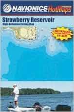 Strawberry reservoir utah high definition fishing map for Strawberry reservoir fishing