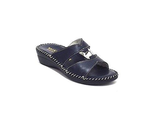 Susimoda scarpa donna, modello pantofola 1572, in pelle, colore blu