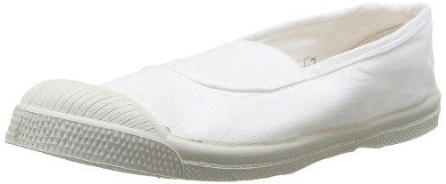 Bensimon Tennis Elastique, Sneaker unisex bambino, Weiß - Blanc (Blanc 101), 33