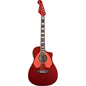 fender dick dale signature malibu sce acoustic electric guitar surfin 39 red musical. Black Bedroom Furniture Sets. Home Design Ideas
