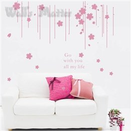 Romantic Bead Curtains Flower Kids Room Living Room Removable Wall Art Modern Decal Home Decor Wall Stickers front-475622