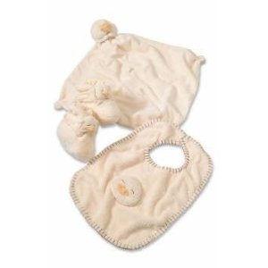 Angel Dear Blankie, Bib and Booties Set (Yellow Ducky set)