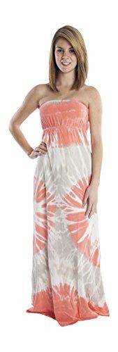 Hard Tail tie dye strapless maxi dress (small)
