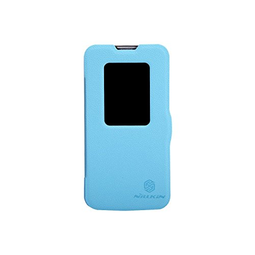 Heartly Nillkin Fresh Series Leather Flip Stand Bumper Back Case Cover With Smart Auto Wake Up Sleep Function ForLG L90 Dual Sim D410 - Power Blue