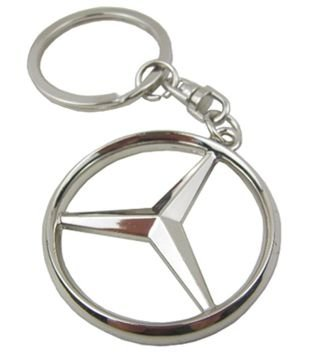 Oriental eLife Mercedes Benz 3D Logo Chrome Keychain Stainless Keychain Keyring (Mercedes Key Ring compare prices)