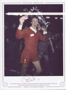 Phil Neal Liverpool celebrates 1981 European Cup Final – Signed Ltd Ed