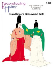 Japanese Shirabyoshi Dancer's Outfit Pattern