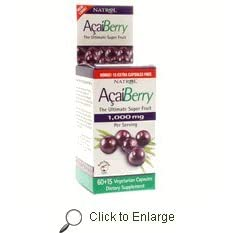 Natrol - Pure Acai Berry Weight Loss Detox Diet Capsules, 75ct Bonus Size