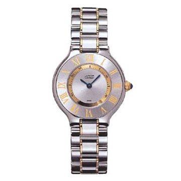 Cartier Women's W10073R6 Must 21 Stainless Steel and 18K Gold Watch