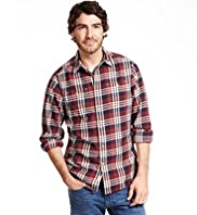 North Coast Pure Cotton Large Checked Twill Shirt