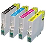 4 Pack Ink Cartridges for Epson Stylus C68, C88, C88+, CX3800, CX3810, CX4200, CX4800, CX5800F, CX7800