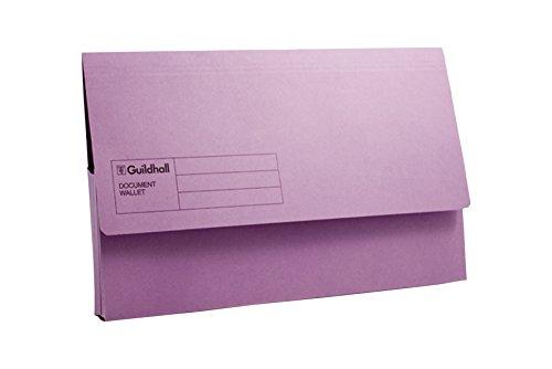 Guildhall-Cartella portadocumenti a portafoglio, colore: viola (Confezione da 50)